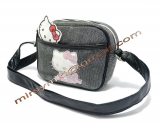Сумка Hello Kitty black smooth cat