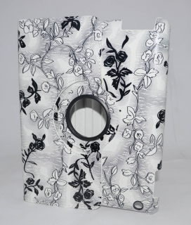 Чехол для iPad 3/iPad 4 grey flowers gloss only one